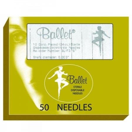 Иглы для электроэпиляции Ballet золото