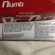 Крем-анестетик Доктор Намб (Doctor Numb) красный, лидокаин крем