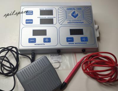 Эпилятор Шмель 1000, эпилятор-коагулятор, игольчатый эпилятор Шмель, электроэпиляция